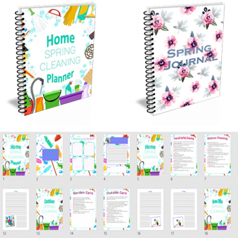 Spring Cleaning & Journal Planner