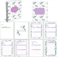 Floral Recipe Book & Card Templates