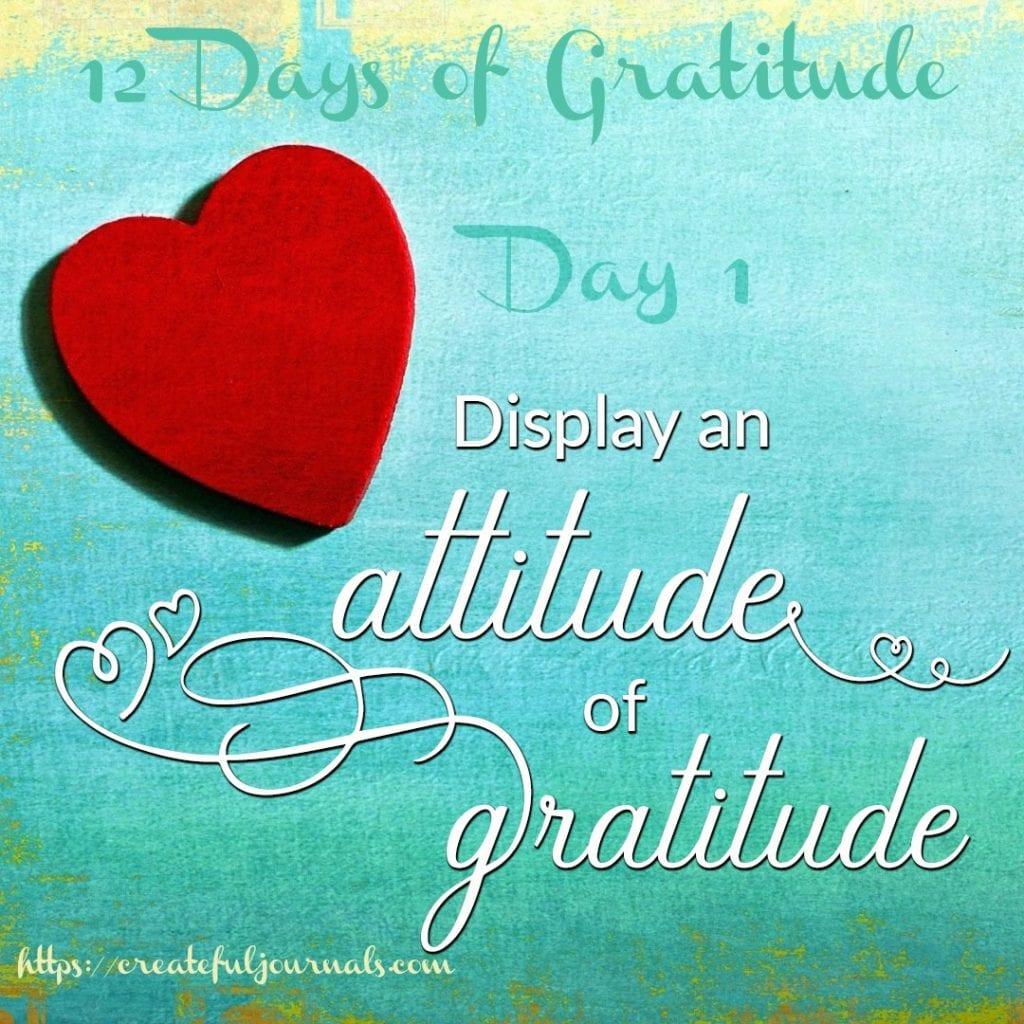 12 Days of Gratitude Journal Challenge