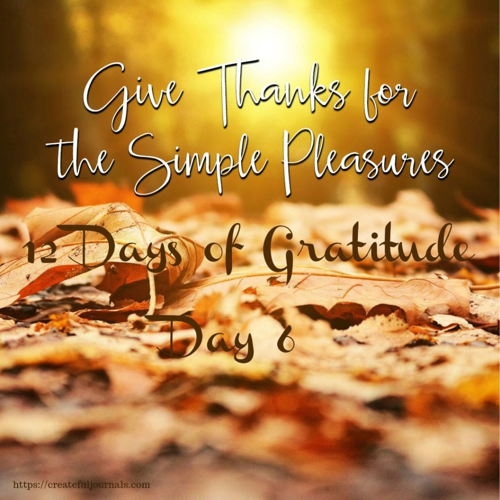 simple pleasures of gratitude