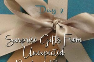 12 Days of Gratitude Day 9 Surprise Gifts