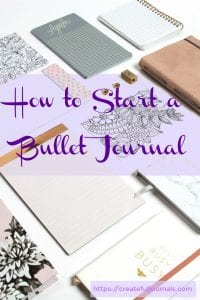 start a bullet journal