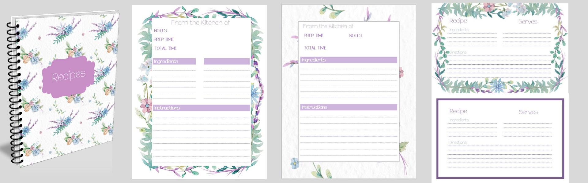 Floral Recipe Book