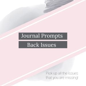 Journal Prompt Back Issue. Createful journals. Downloadable Journals