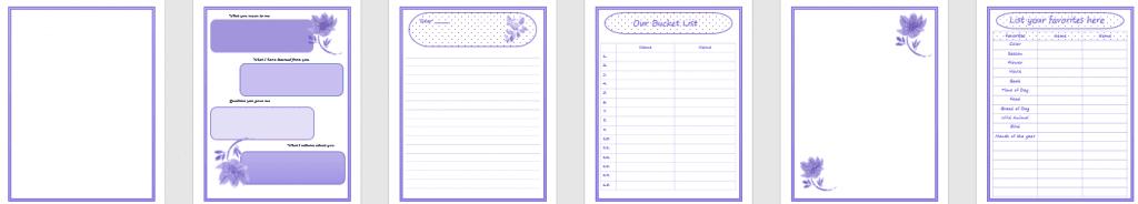 Planners, lists, Createful journals
