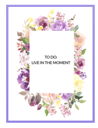 Live in the moment, Createful journals
