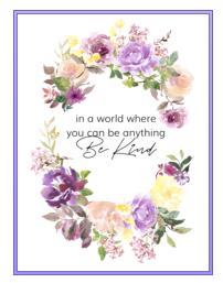 be kind poster, Createful journals