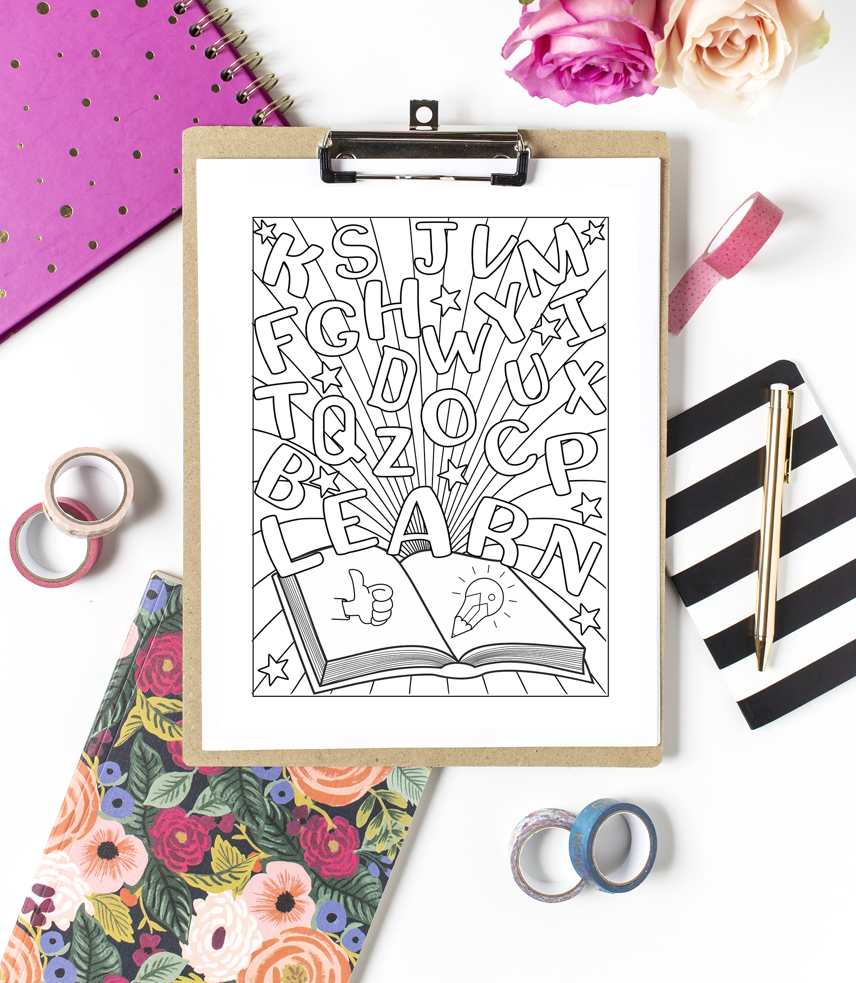 Crateful Journals Coloring Pages