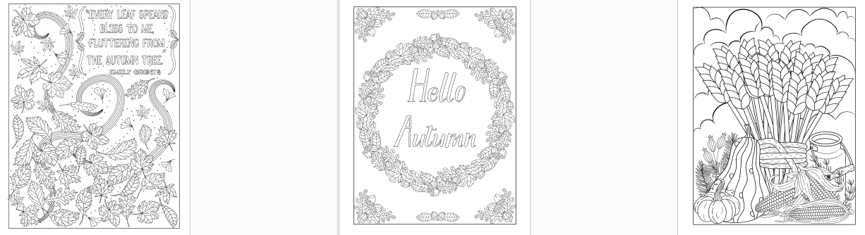 createful journals downloadable journals fall event themed coloring journals