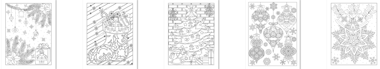 Christmas coloring journal, Createful journals, downloadable journals, downloadable Christmas coloring journals, downloadable Christmas coloring pages, Christmas, coloring pages,