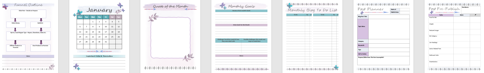 Createful journals, 2020 blog planner, downloadable journals, downloadable planners