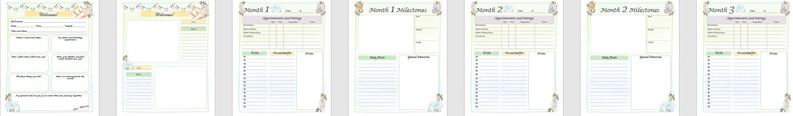 Createful Journals, Downloadable Journals, Printable Journals, Pregnancy printable journals,Pregnancy downloadable journals