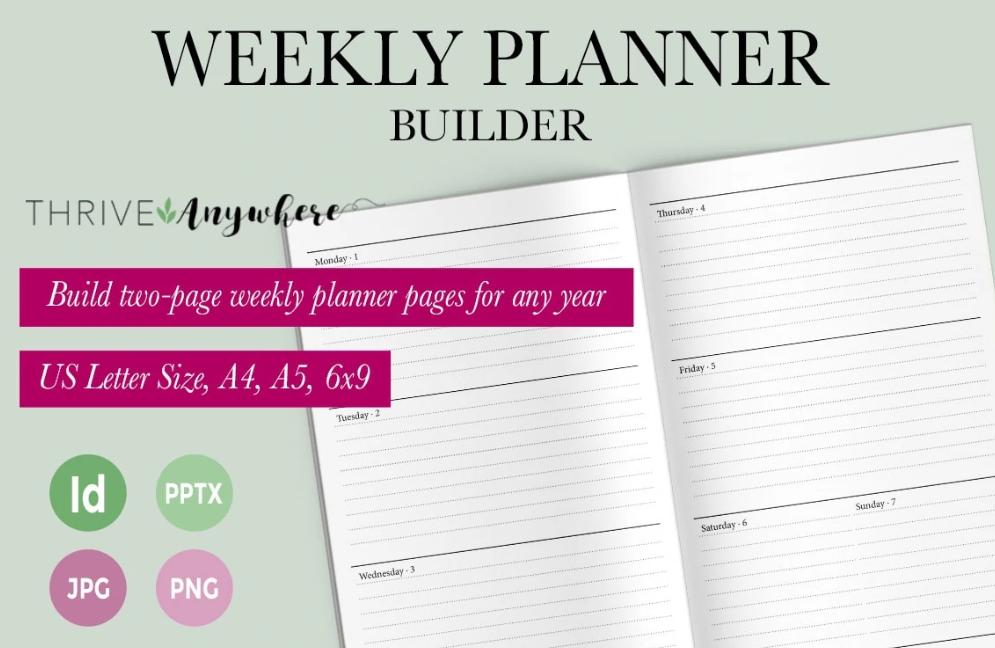 Weekly Planner Builder